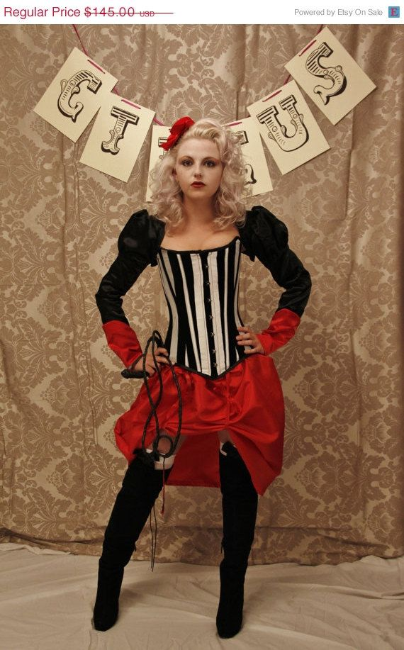 Halloween Sale Circus Ringmaster Corset-to fit 26-28 inch waist ready to ship on Etsy, $108.75