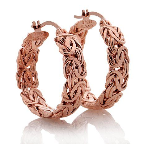 Technibond® Byzantine Hoop Earrings