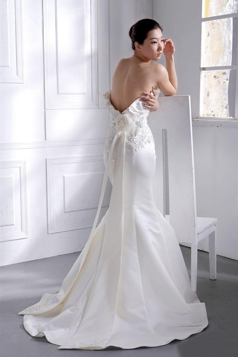 Sexy back satin mermaid style wedding dress | My Day|Wedding ...
