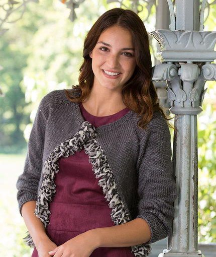 Glam Ruffled Cardigan Knit Patterns Knit Cardigan Pattern And