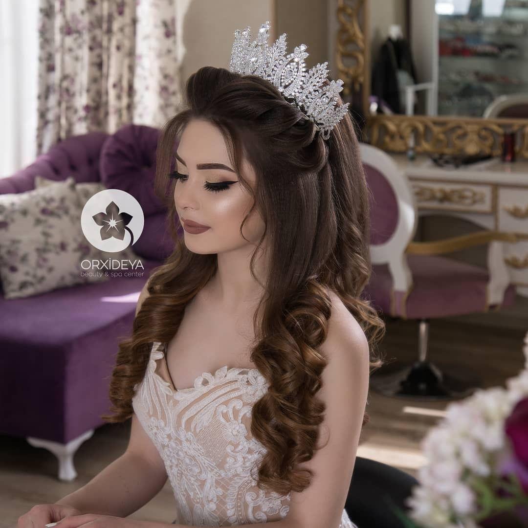 Elegant Wedding Hair With Tiara Coiffe 2019 Dugun Sac