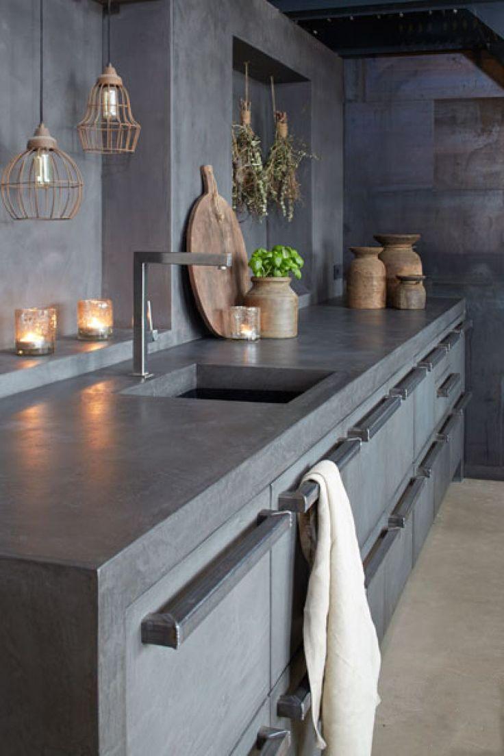 Bekend 10x de mooiste keukens met beton | Pinterest - Keukens, Keuken en Met #XP09