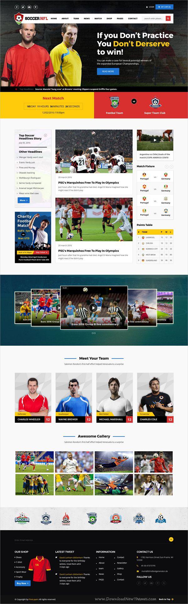 Soccer Sports - Soccer & Sports HTML Template