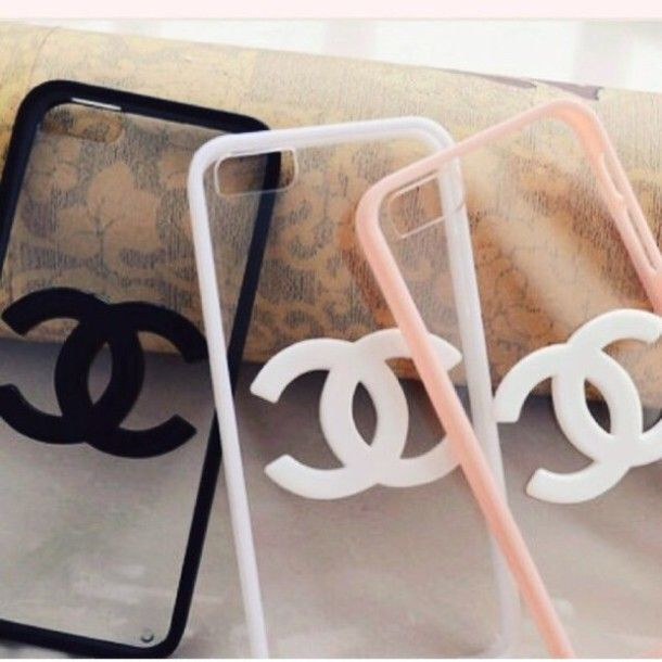promo code a23ce dbf0f Phone cover: clear iphone 6 case with chanel logi, chanel ...