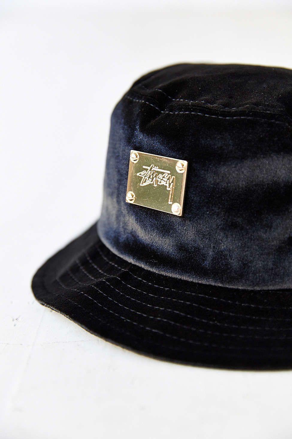 a7962c3b21a Stussy X UO Velvet Bucket Hat