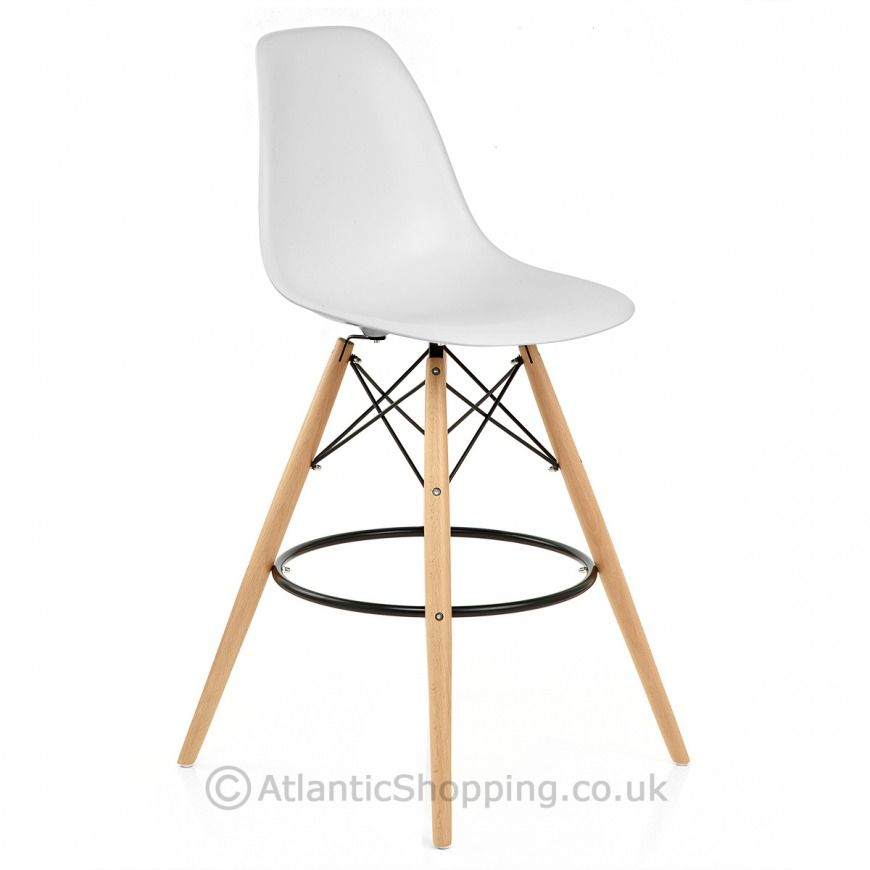 Eames Style Bar Stool White. THese come in many colors.