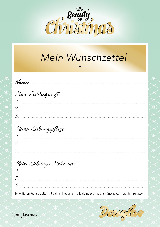 Printable Wishlist für XMAS – Platz für die wichtigsten Beauty ...