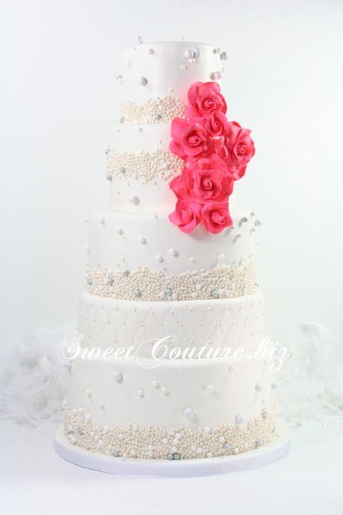 G 226 Teau De Mariage Perles Amp Corail Wedding Cake G 226 Teaux