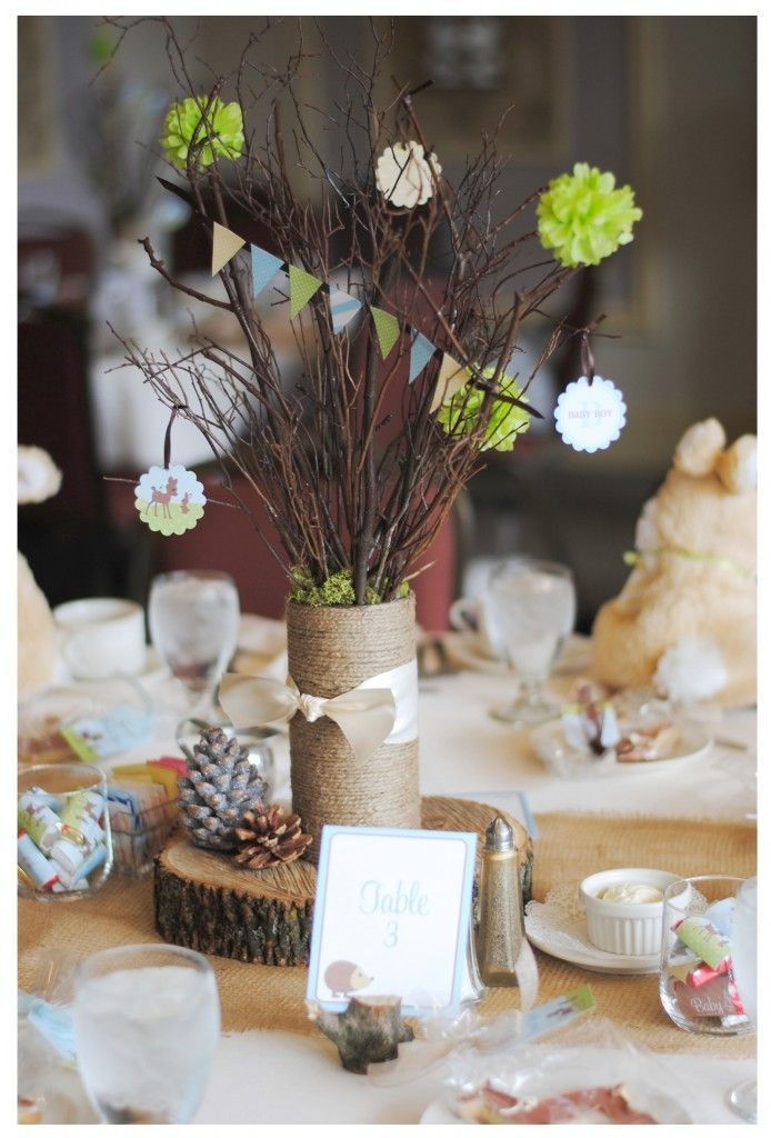 Shower Party Decor Items For Tables Baby Shower Woodland