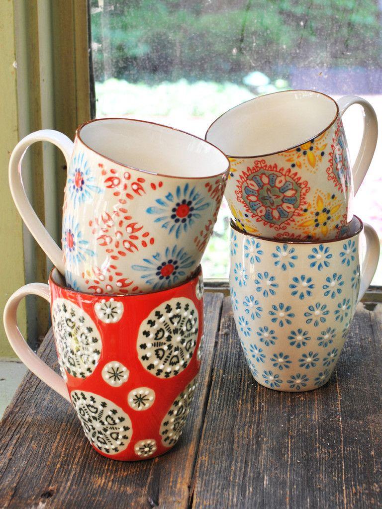 Bohemian Mugs Set Of 4