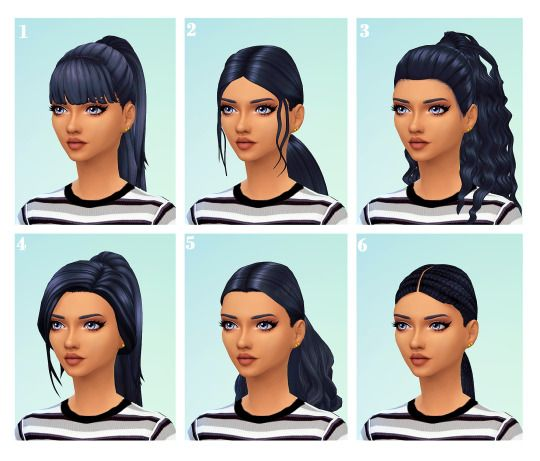 Can you share some of your favorite basic ponytail hairstyles? I've realized I don't have a decent and simple ponytail cc hair in my game! 🤦🏿♀️ tyia 💕