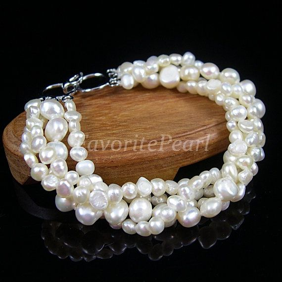 Pearl+Bracelet++75+Inches+4+Strands+45mm+and+by+FavoriteJewellery,+$10.00