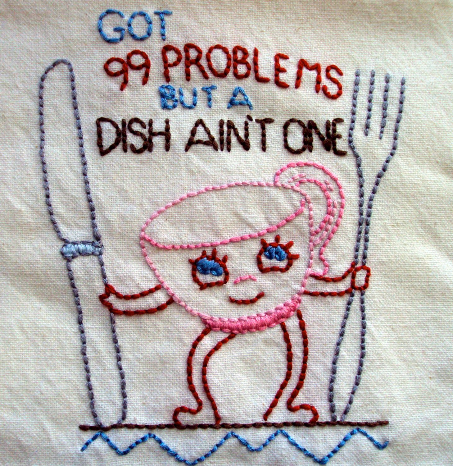 Handembroidered Dish Towel @katie Cannon These Are The Dish Towels You
