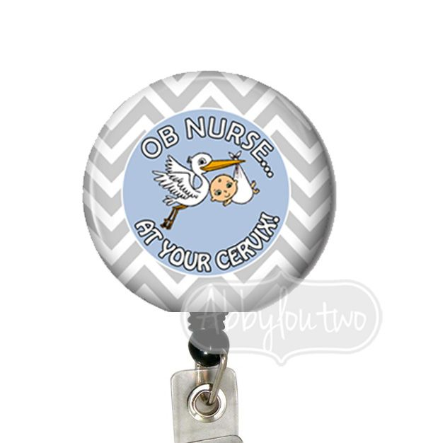 OB at your Cervix Blue  Badge Reel #idtag #badgereel #idholder #abbyloutwo #name #badgeholder #stethoscopeidtag #stethoscope #initials #monogrammed #personalized