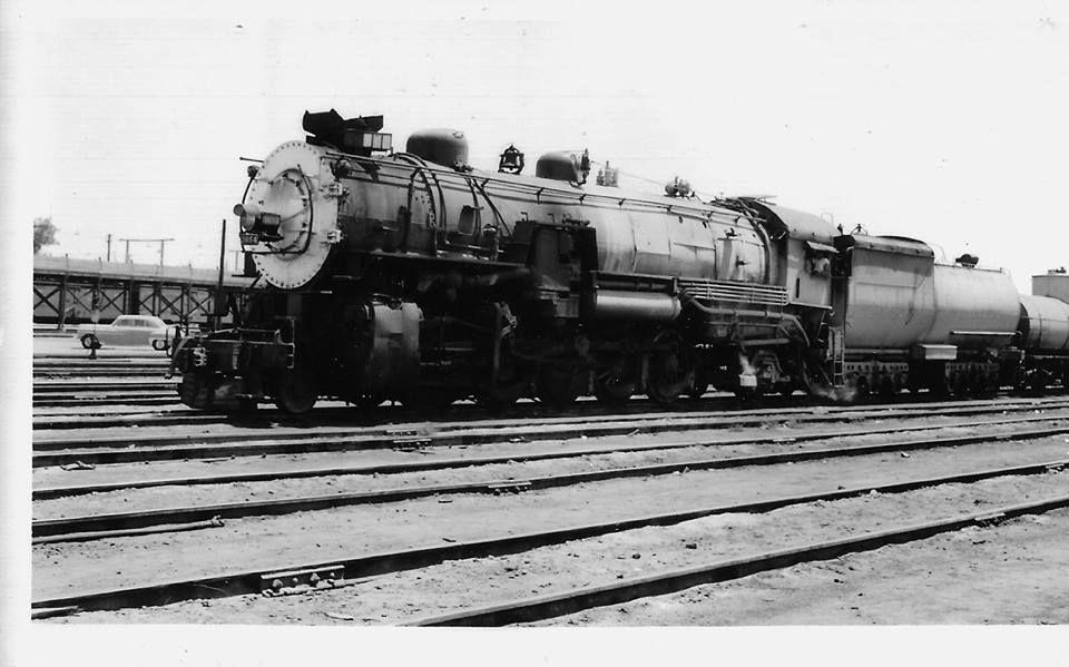 SP  #3654 , 2-10-2 , @ Bakersfield Ca , 7-2-55 | Trains