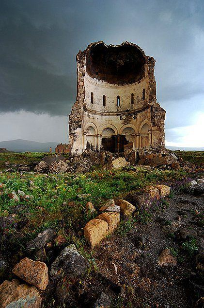 ANI RUINS: Amenap'rkitch Church, Ani Ruins in Eastern Anatolia, Turkey