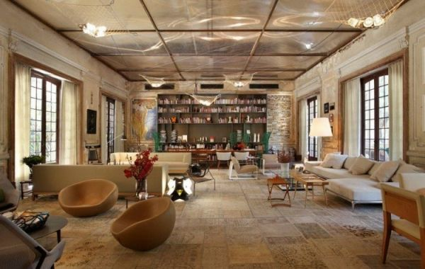 Artistic design of an old hotel in Brazil