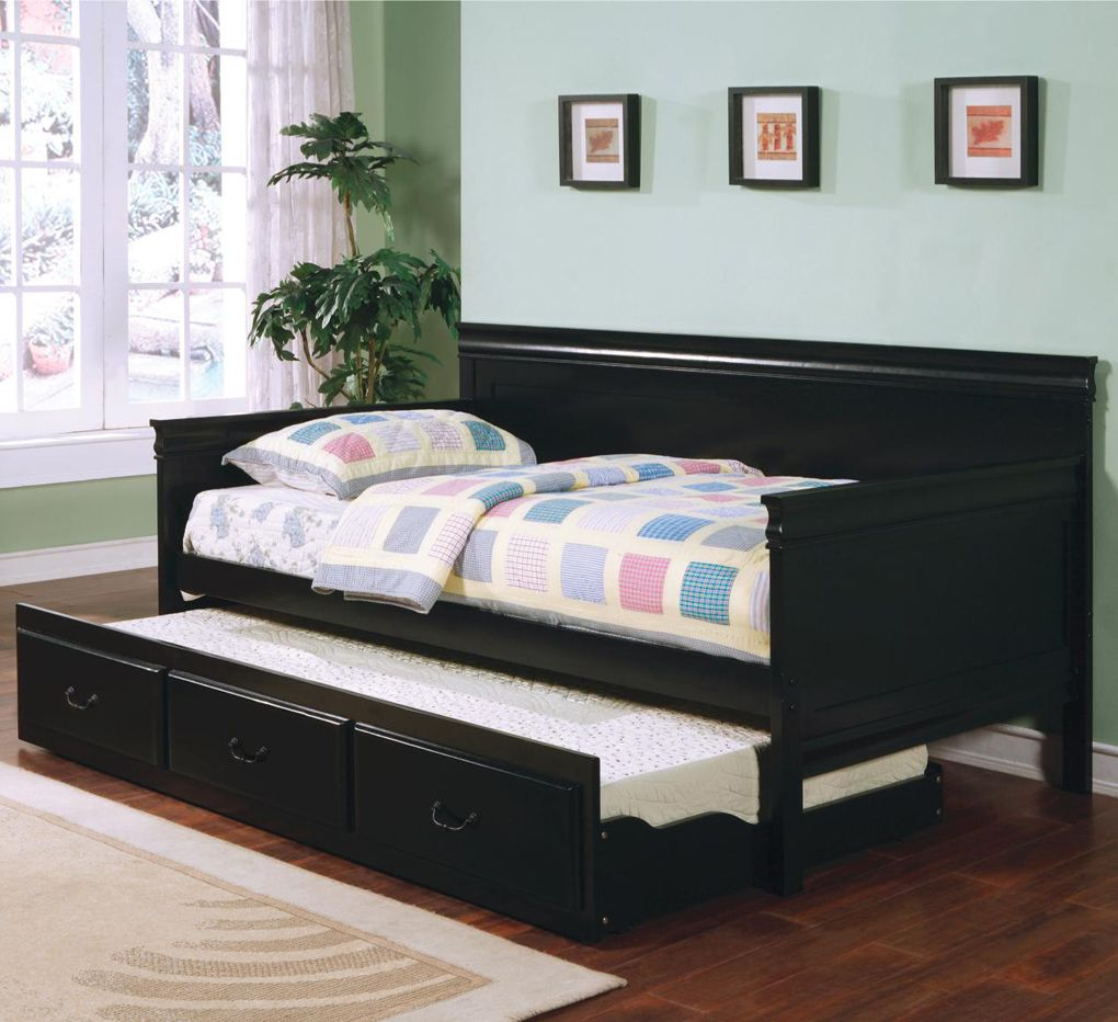 Daybed with trundle full size contemporary black daybed with trundle design ideas  daybeds
