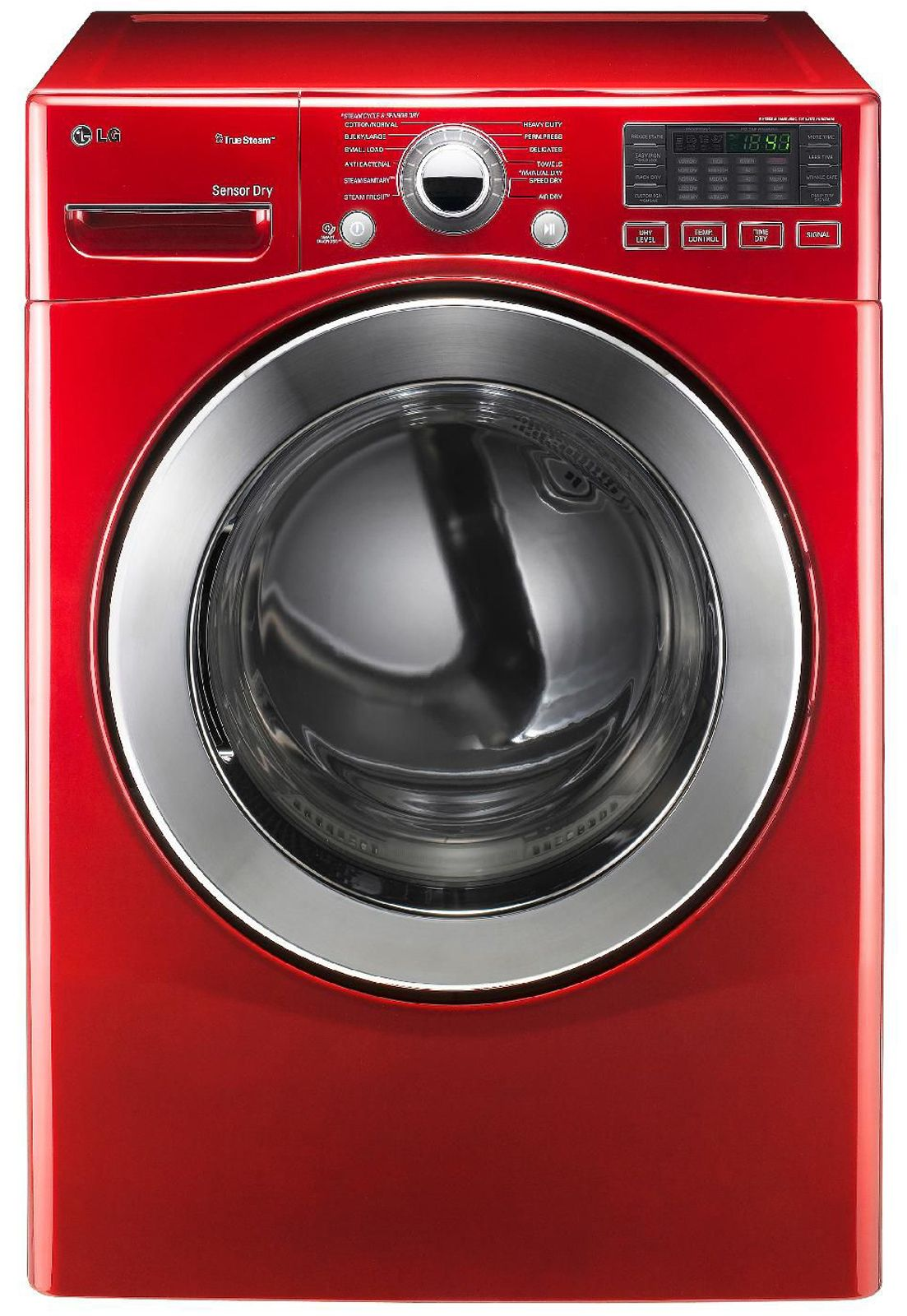 Lg 73 cu ft steam electric dryer w sensor dry red