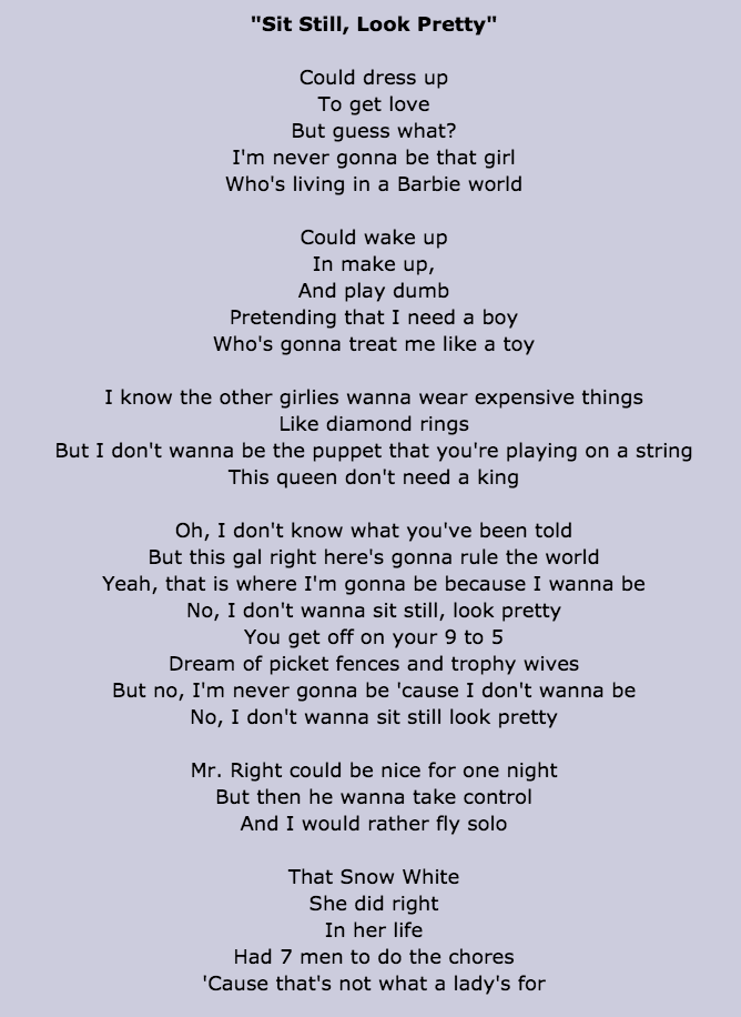 Lyric disney songs lyrics : Loving this song | Song Lyrics | Pinterest | Songs and Feminism