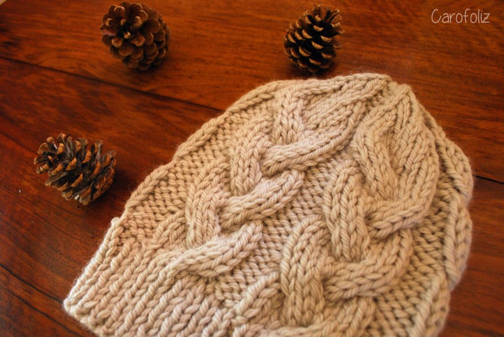 bonnet à torsades au tricot | Tuto bonnet tricot, Tricot ...