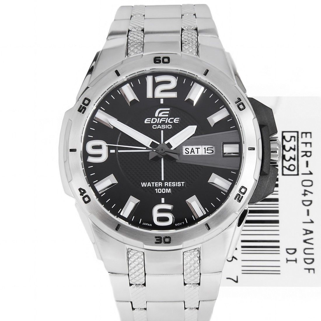 Casio Edifice Black Dial Mens Watch Efr 104d 1a Efr104d Casio Casio Edifice Watches For Men