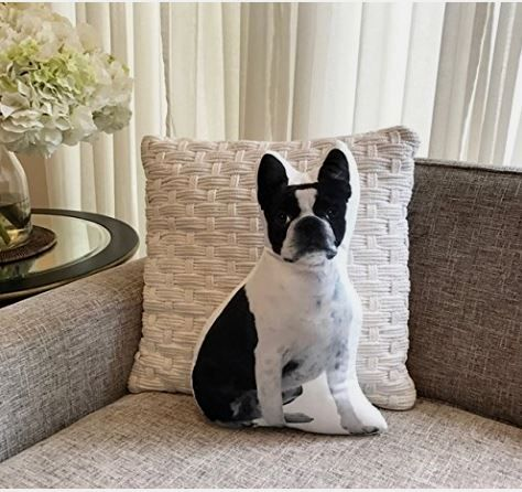 Super cute Boston Terrier Shaped Pillow ! Order yours here ➩➩        http://amzn.to/2rdL8DO