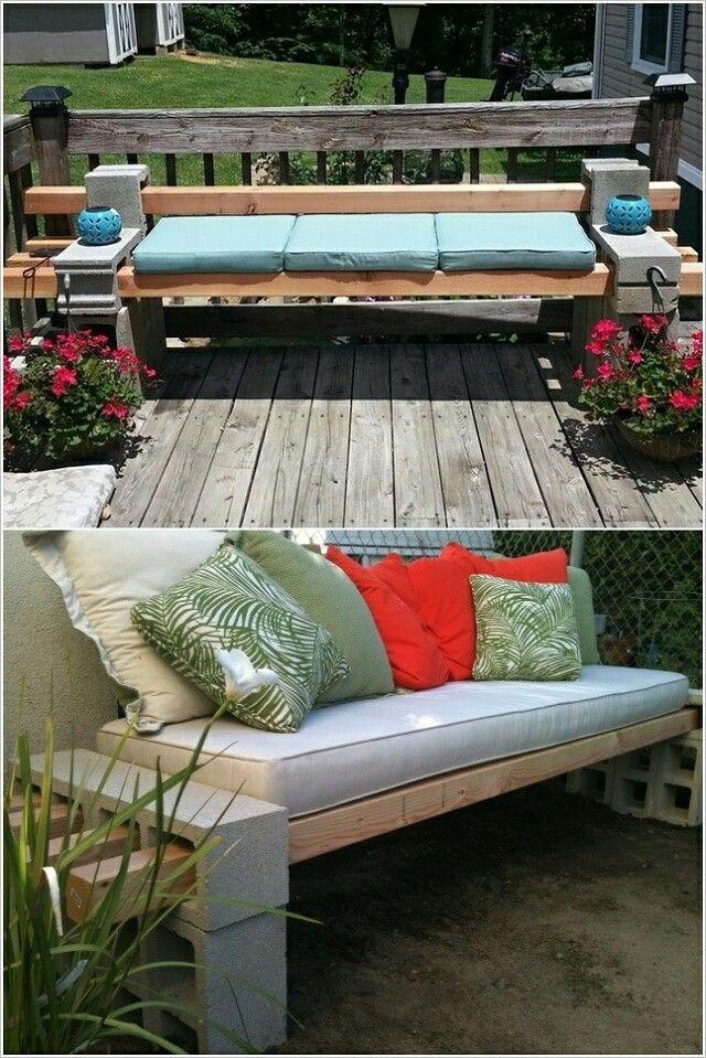 Cinderblock bench