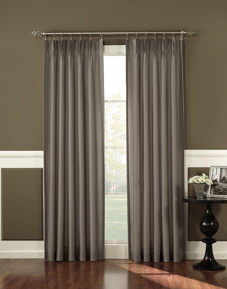 Antoinette Pleated Back Tab Curtain Panel Curtainworks