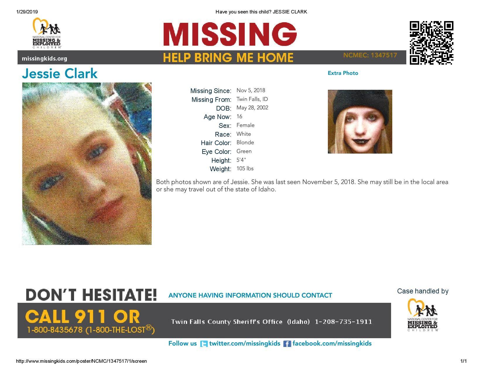 Find Missing Jessica Kristine Clark! ***(UPDATE: NO LONGER