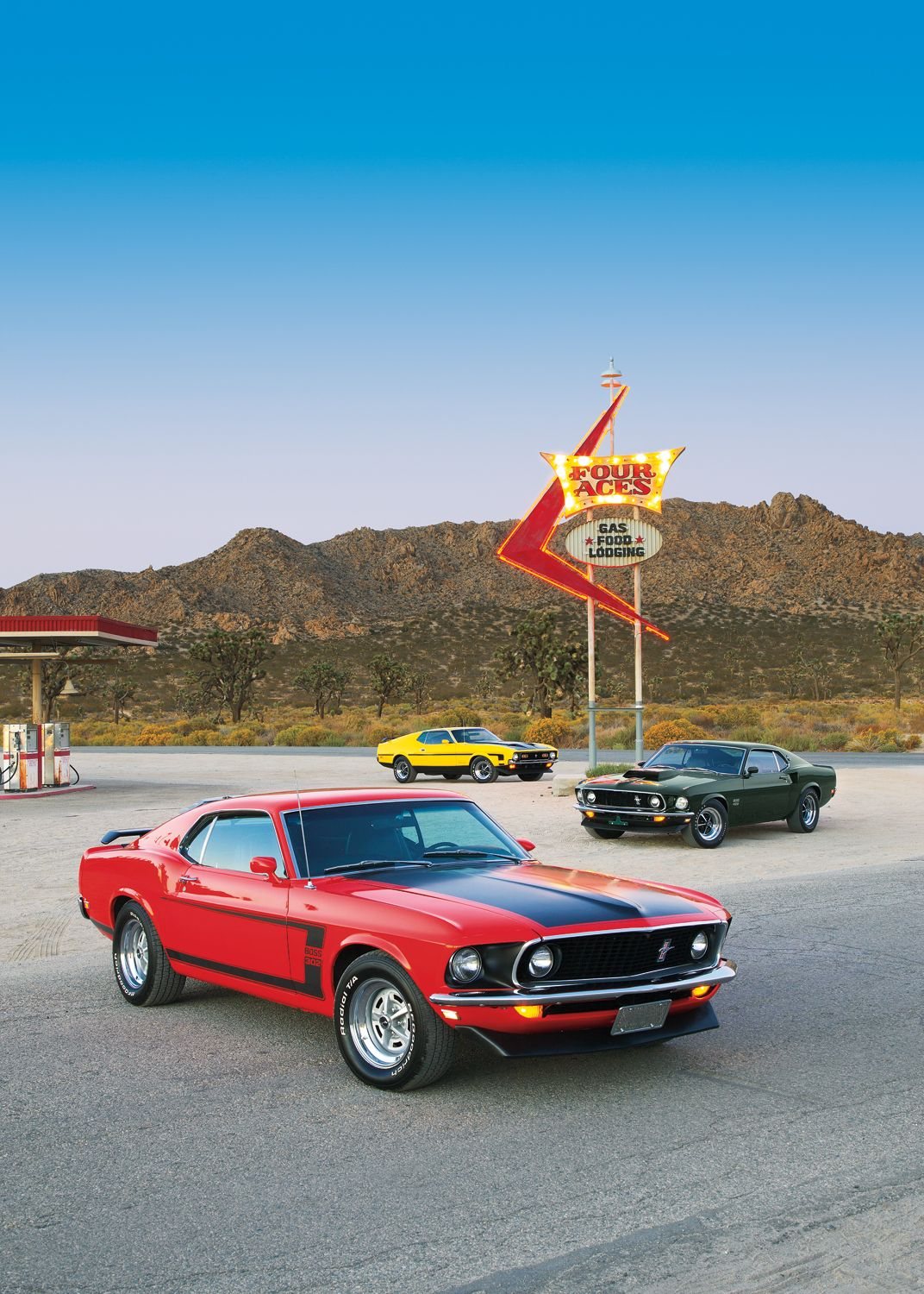 "Red Ford Mustang Boss 302 Car 42/"" x 24/"" LARGE WALL POSTER PRINT NEW."
