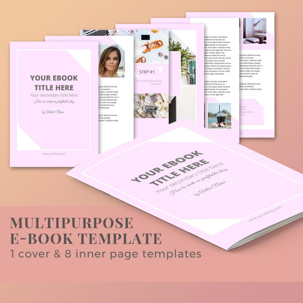 Ebook Template 10 Pages Magazine Template Word Template Ebook