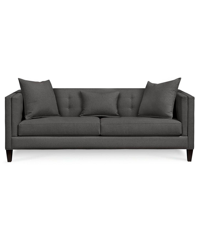 Braylei 88 Fabric Track Arm Sofa Created For Macy S