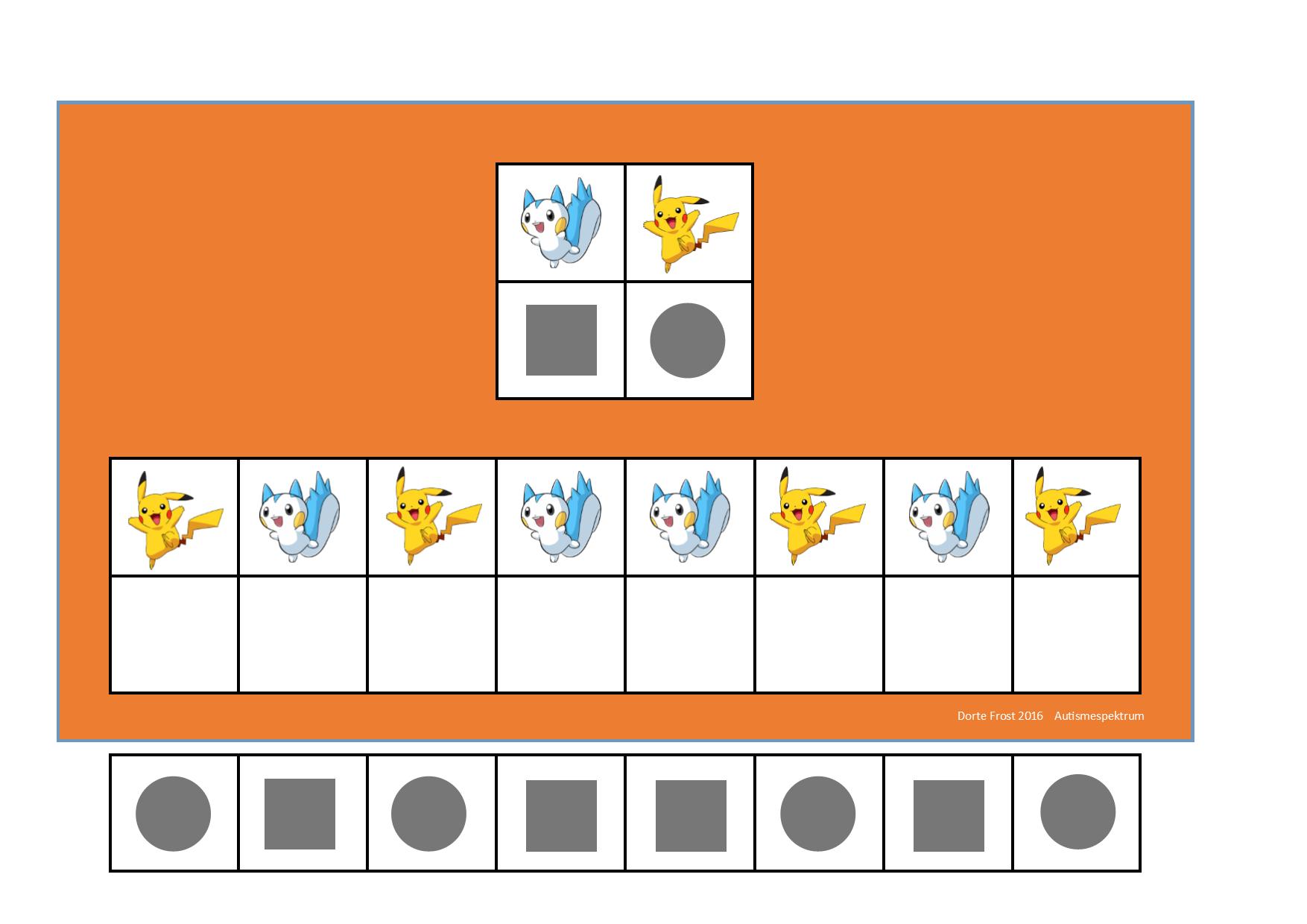 Board And Tiles For The 2 Pokemon Visual Perception Game By Autismespektrum Visual Perception Perception Math [ 1240 x 1754 Pixel ]