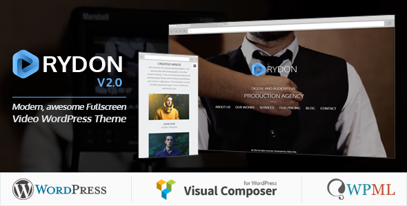 Rydon – Fullscreen Video WordPress Theme