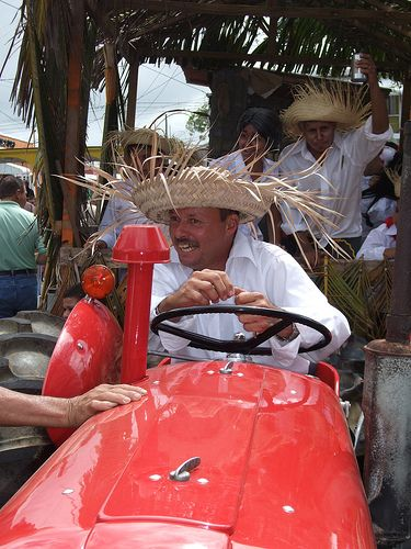 Wearing A Pava Hat And Driving A Tractor Priceless Puerto Rico Hats Puerto