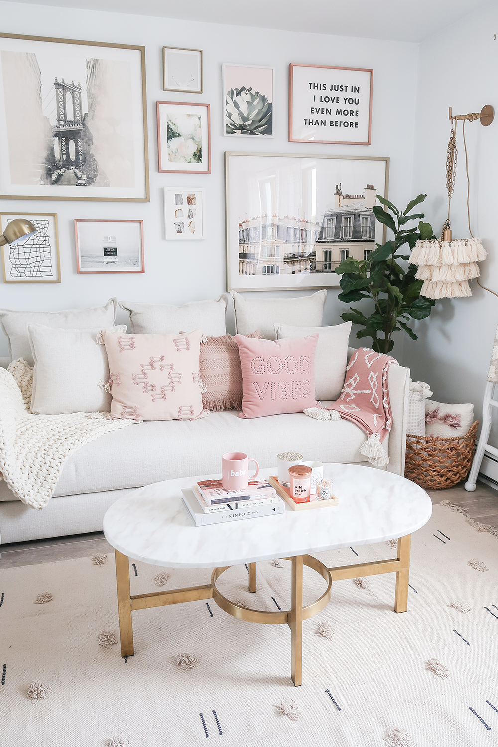 Cozy Neutral And Blush Living Room Teresa Caruso Blush Living Room Pink Living Room Living Room Designs