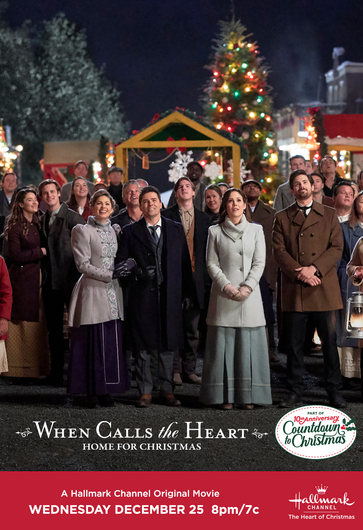 Christmas 2020 When Calls The Heart Celebrate the 10th anniversary of Countdown to Christmas in Hope