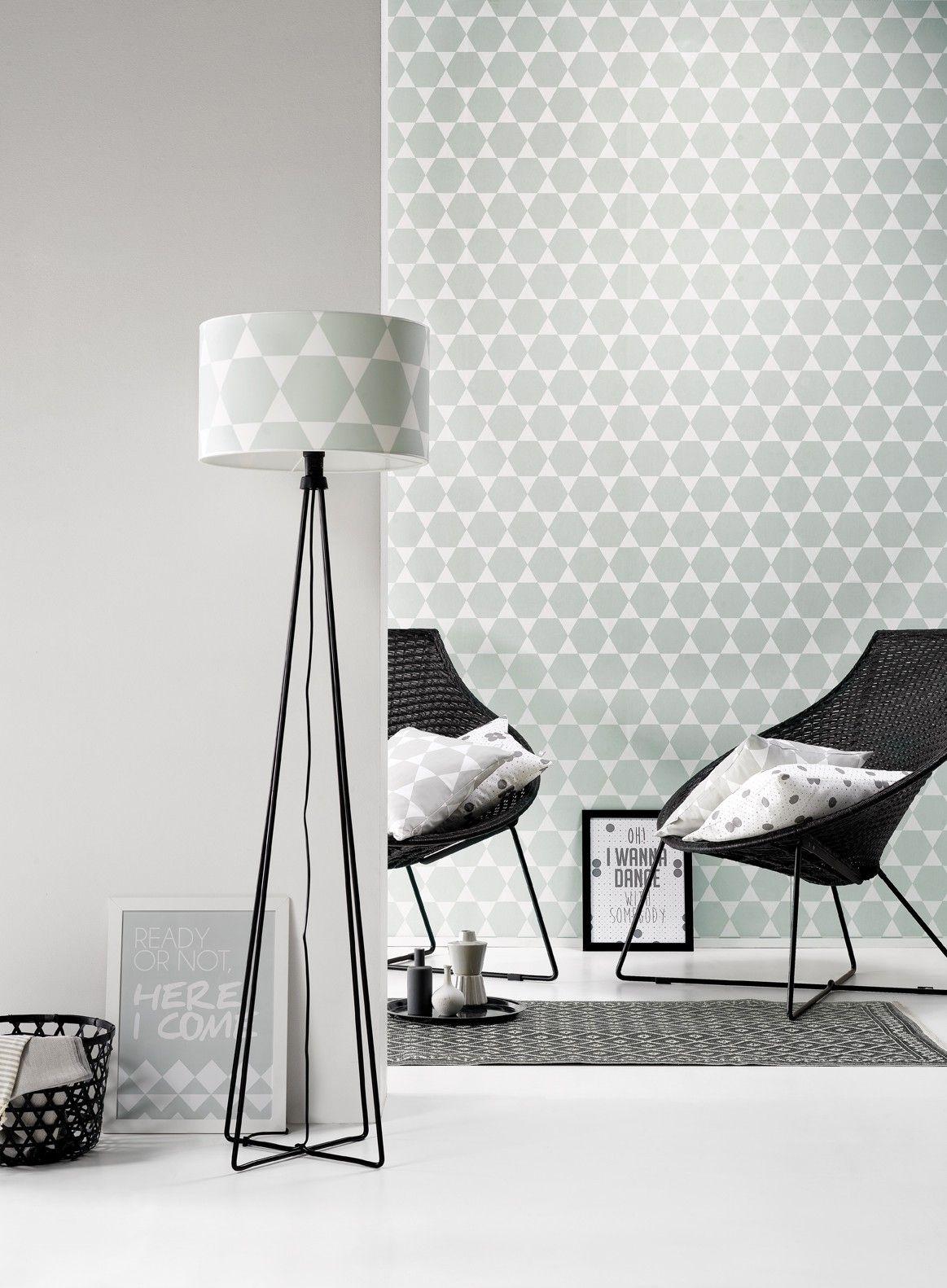 Grafisch grijs behang room blush interieur pinterest wall decorations wallpaper and - Grafisch behang ...