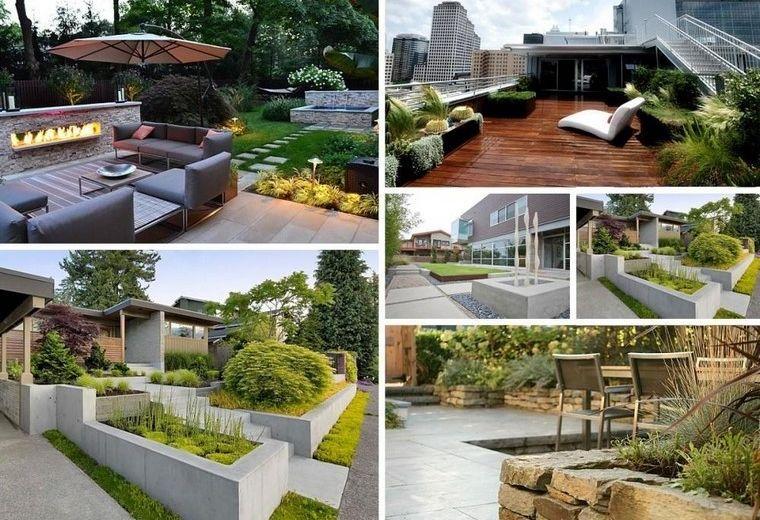 diseño de jardines modernos ideas terraza plantas casa ideas - jardines modernos