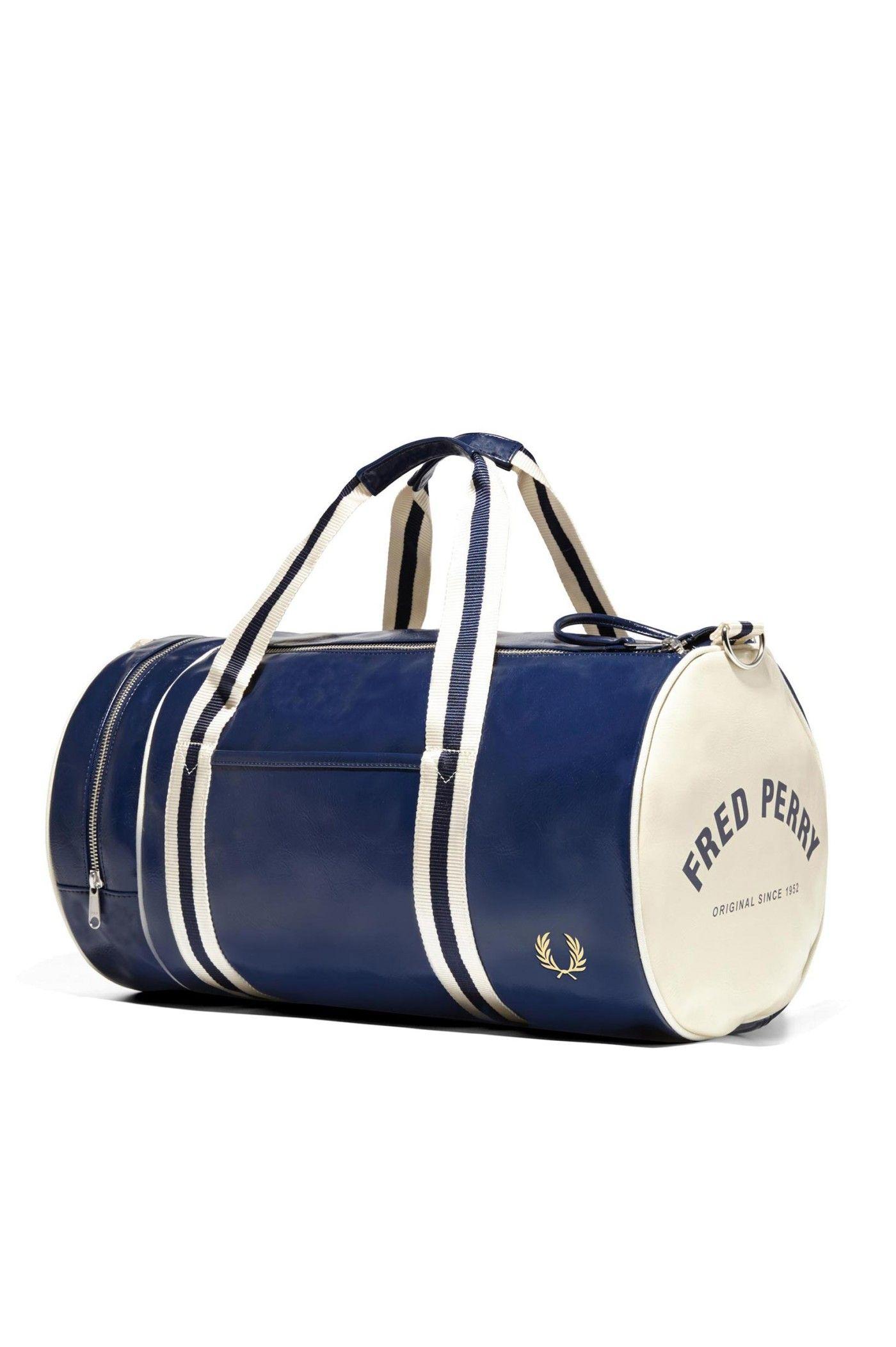 Fred Perry - Classic Barrel Bag Navy   Ecru  a958befa50a52