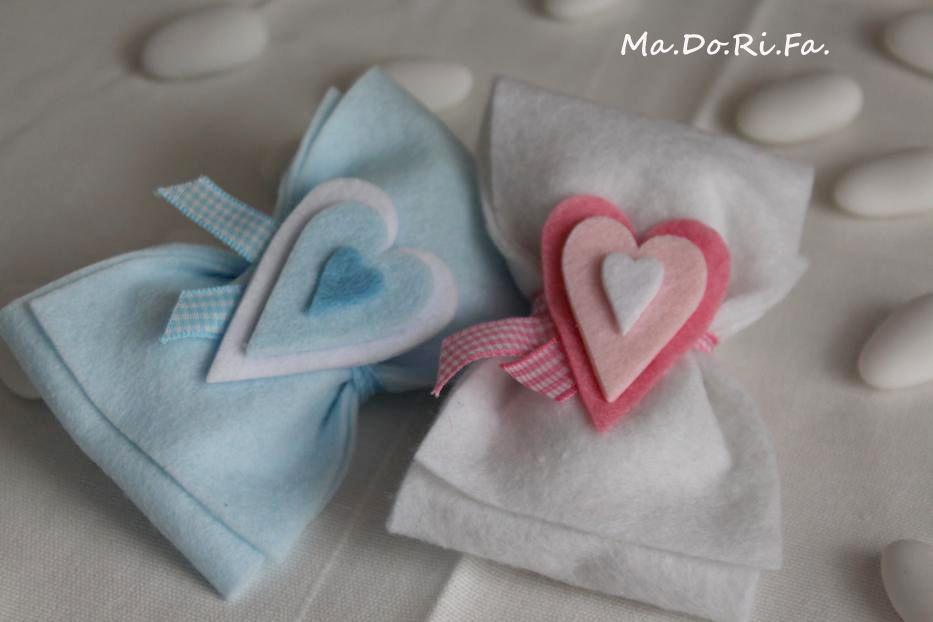 Fiocchi dal cuore morbido http://madorifabomboniere.blogspot.it/