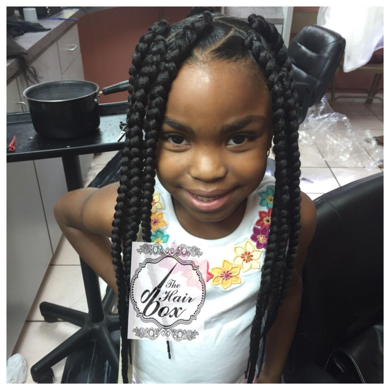 Little Girl Box Braids, Natural Hairstyles