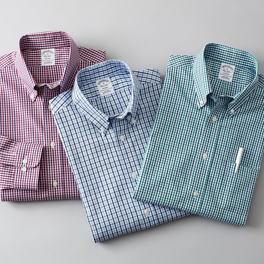 0dc549cc442 Non-Iron Regent Fit Two-Color Gingham Sport Shirt - Brooks Brothers ...