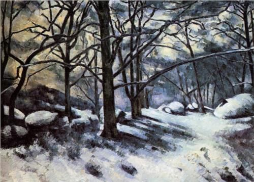 Melting Snow. Fontainbleau - Paul Cezanne
