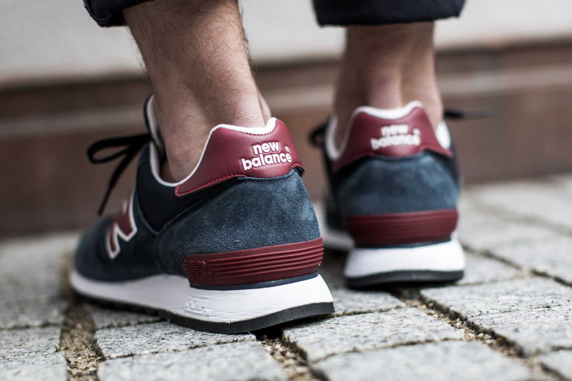 NEW BALANCE M670SNR NAVY/RED available at www.tint-footwear ...