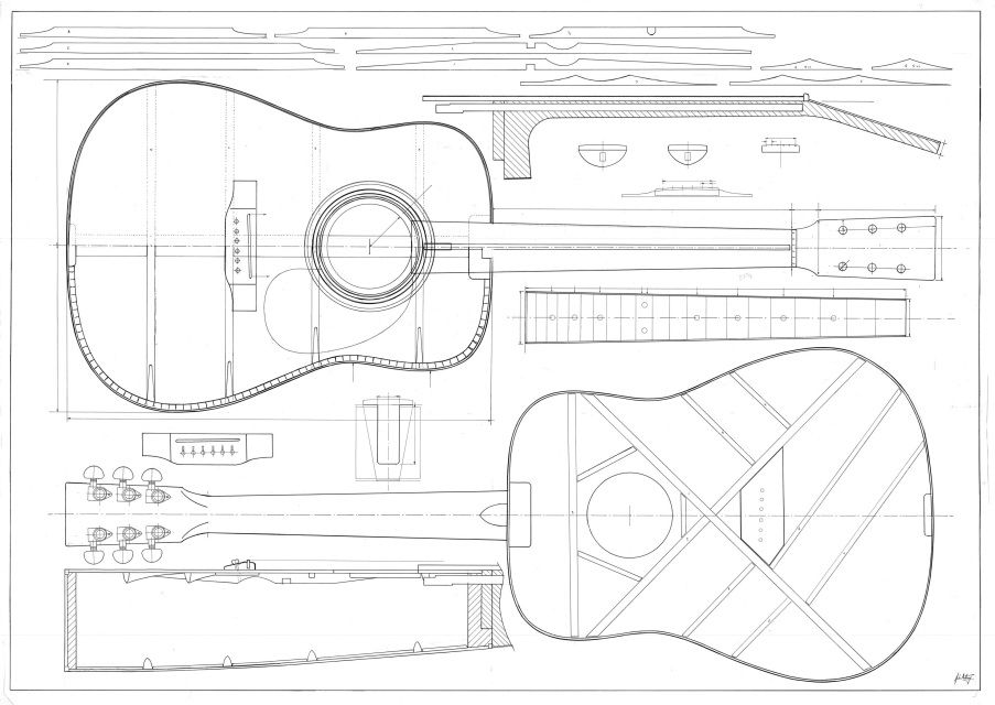 A3 Display Prints Guitar Building Guitar Design Acoustic Guitar