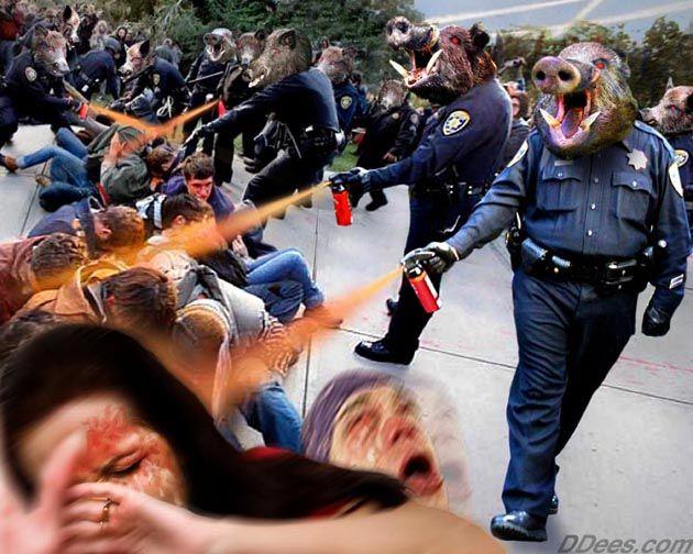 Pepper spray Pigs