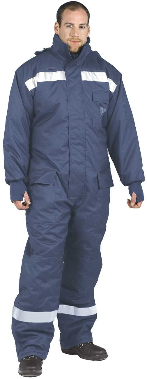 coldstore overalls protection to 40 degrees navy 2xl 3xl on insulated work overalls id=81275