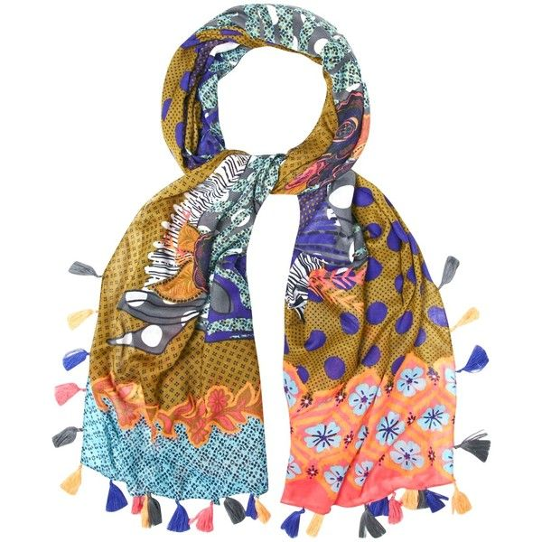 White Stuff Congo Zebra Patchwork Scarf, Multi ( 31) ❤ liked on Polyvore  featuring accessories, scarves, lightweight scarves, zebra scarves, multi  colored ... deadbd4ef26